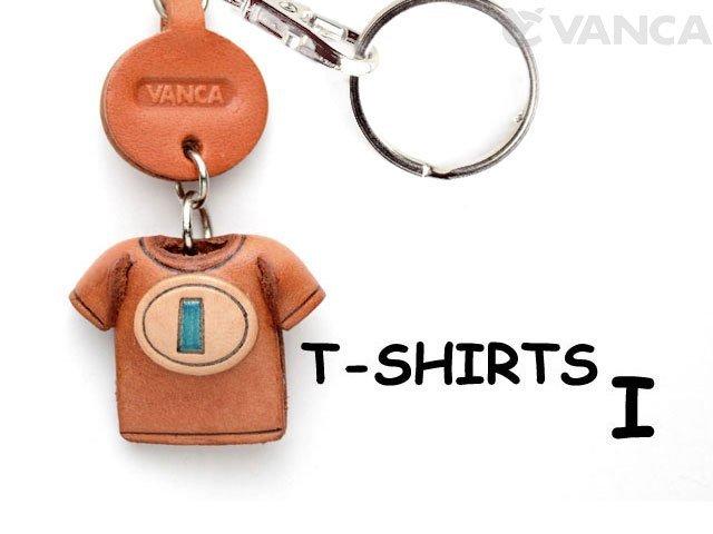 VANCA本革レザーTシャツ青キーホルダー I