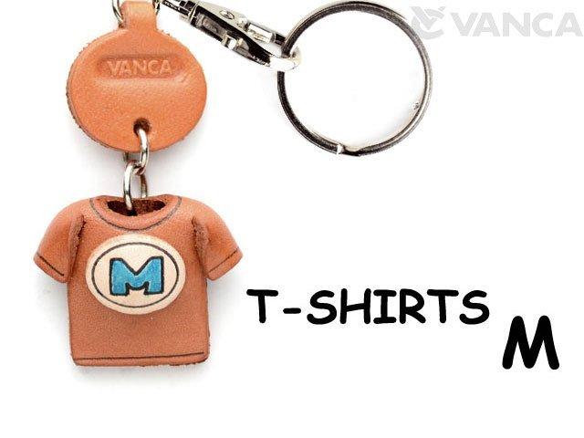 VANCA本革レザーTシャツ青キーホルダー M