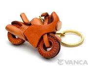 VANCA 本革レザーキーホルダー レーサーバイク