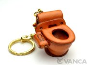VANCA 本革レザーキーホルダー トイレ
