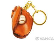 VANCA 本革レザーキーホルダー野球グローブ