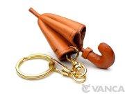 VANCA 本革レザーキーホルダー 傘