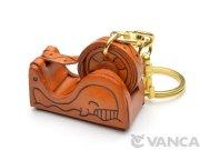 VANCA 本革レザーキーホルダー テープカッター