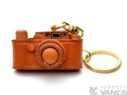 VANCA 本革レザーキーホルダーライカカメラ