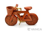 VANCA 本革レザーキーホルダー 自転車