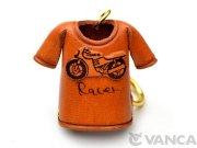 VANCA 本革レザーTシャツキーホルダー レーサーバイク