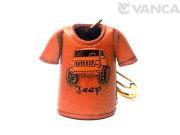 VANCA 本革レザーキーホルダー Tシャツ ジープ