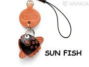 VANCA本革レザー魚携帯ストラップ マンボウ