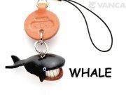 VANCA本革レザー魚携帯ストラップ くじら