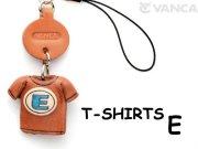 本革レザーTシャツ携帯ストラップ青 E
