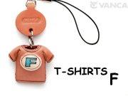 本革レザーTシャツ携帯ストラップ青 F