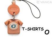 本革レザーTシャツ携帯ストラップ青 O