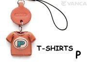 本革レザーTシャツ携帯ストラップ青 P