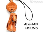 VANCA本革犬携帯ストラップ アフガンハウンド