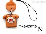 本革レザーTシャツ携帯ストラップ赤 N