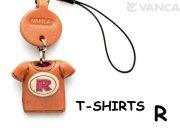 本革レザーTシャツ携帯ストラップ赤 R