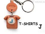 VANCA本革レザーTシャツ青キーホルダー J