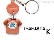 VANCA本革レザーTシャツ青キーホルダー K