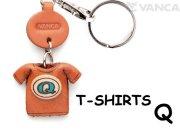 VANCA本革レザーTシャツ青キーホルダー Q