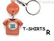VANCA本革レザーTシャツ青キーホルダー R