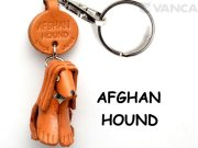 VANCA本革レザー犬キーホルダー アフガンハウンド