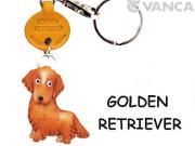 VANCA本革レザー犬キーホルダー ゴールデンレトリーバー
