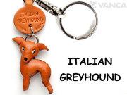 VANCA本革レザー犬キーホルダー イタリアングレーハウンド