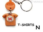 VANCA本革レザーTシャツ赤キーホルダー N