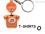 VANCA本革レザーTシャツ赤キーホルダー O