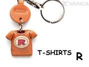 VANCA本革レザーTシャツ赤キーホルダー R