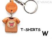 VANCA本革レザーTシャツ赤キーホルダー W