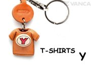 VANCA本革レザーTシャツ赤キーホルダー Y