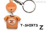VANCA本革レザーTシャツ赤キーホルダー Z