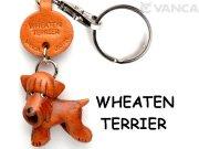 VANCA本革レザー犬キーホルダー ウィートンテリア