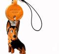 VANCA本革犬携帯ストラップ シベリアンハスキー