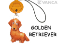 VANCA本革犬携帯ストラップ ゴールデンレトリーバー
