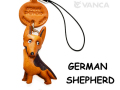 VANCA本革犬携帯ストラップ ジャーマンシェパード