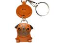 VANCA本革犬携帯ストラップ パグ