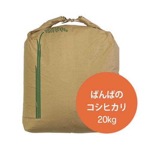 ばんばのコシヒカリ 玄米20kg