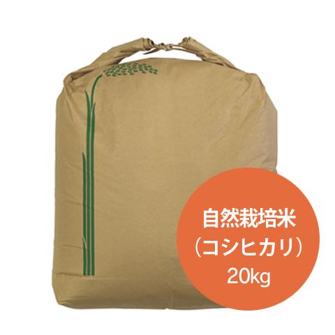 自然栽培米こしひかり(特別栽培米) 玄米20kg