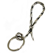 VASSER(バッサー)Vintage Woven Key Chain Silver(ビンテージウーブンキーチェーンシルバー)
