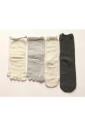 絹屋 4足重ね履き靴下 シルクと綿