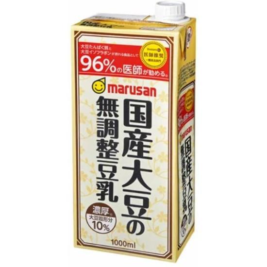 濃厚10%国産大豆の無調整豆乳1L