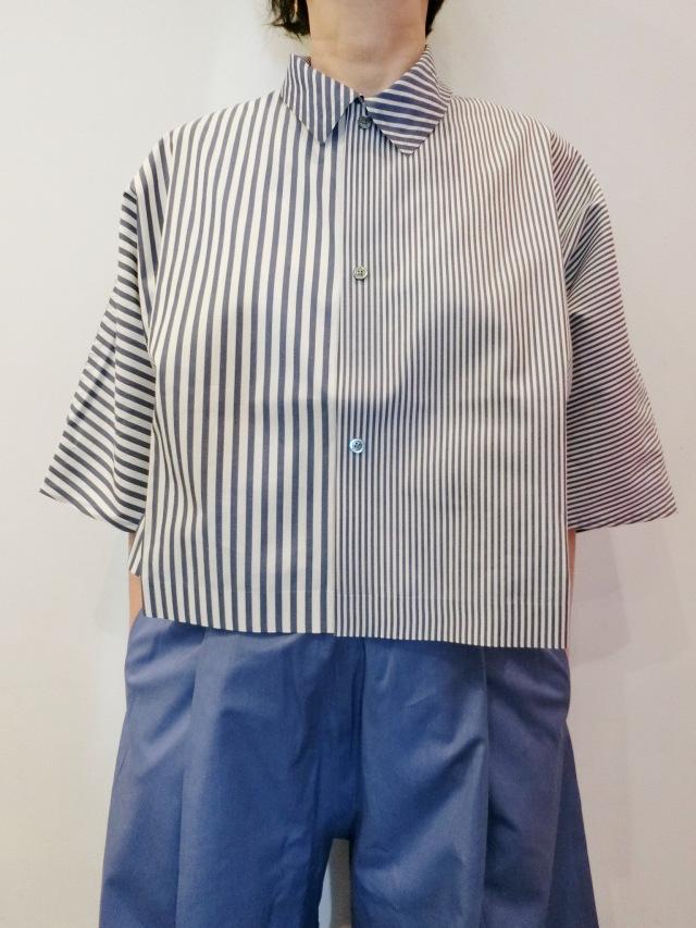 BARBARA ALAN:ワイドクロップシャツ