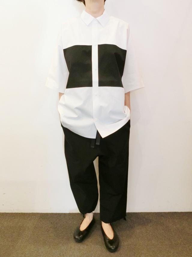 BARBARA ALAN:ホワイトポケットシャツ