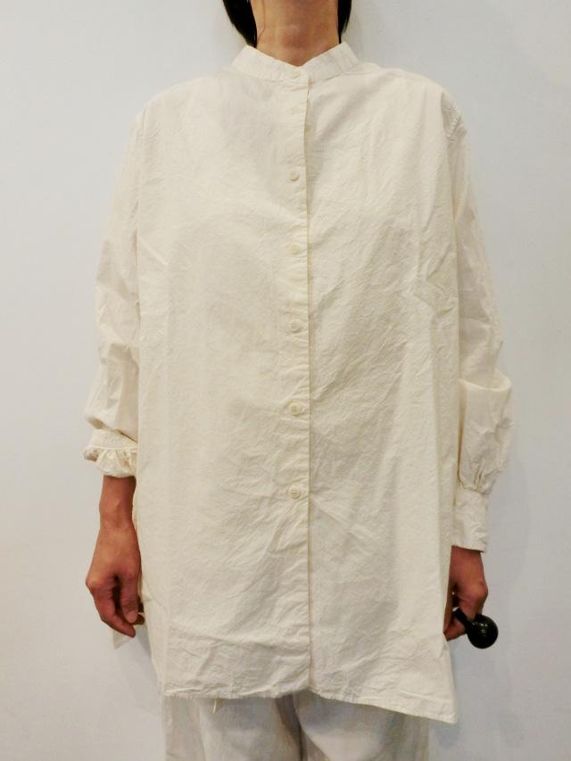 CASEY CASEY:ノーカラーシャツ