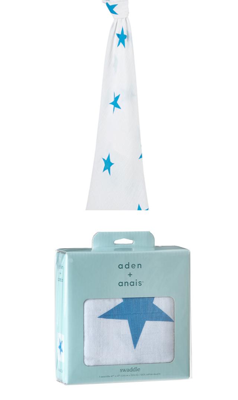 【エイデン+アネイ(Aden&Anais)】シングルモスリンラップ(brilliant blue)