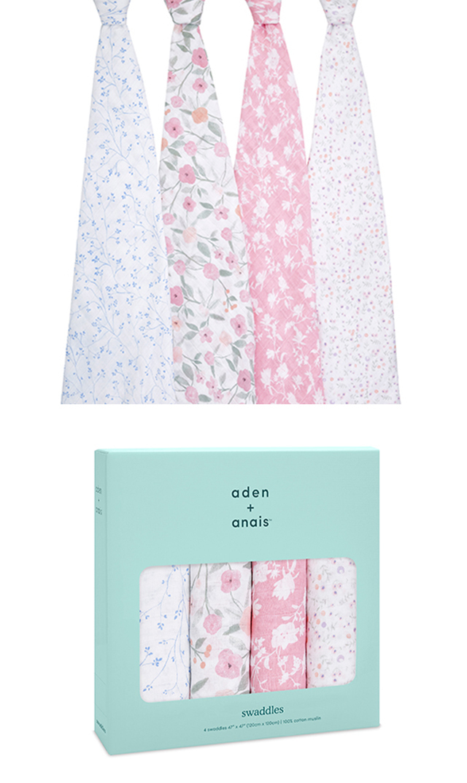 【エイデン+アネイ】モスリンラップ4枚組(ma fleur)