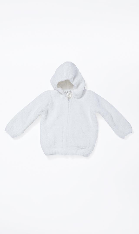 【エンジェルディア】シェニールフーデッドジャケット(ホワイト)0-2歳