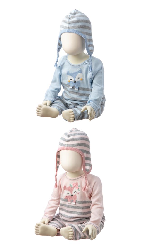 【エンジェルディア(Angel Dear)】インターシャカバーオール(キツネ・2色展開)/3-12ヶ月
